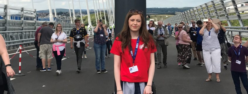 Alana, employee of a Courier in Scotland on the Queensferry Crossing