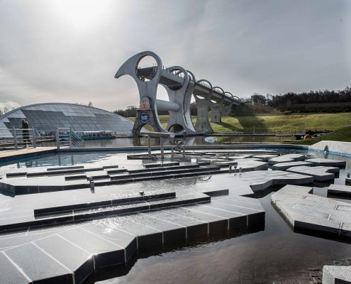Falkirk Wheel image for Courier Scotland company Eagle Couriers