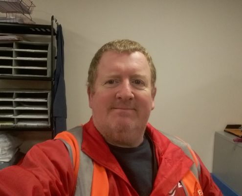 Brian team member focus for Courier Scotland company