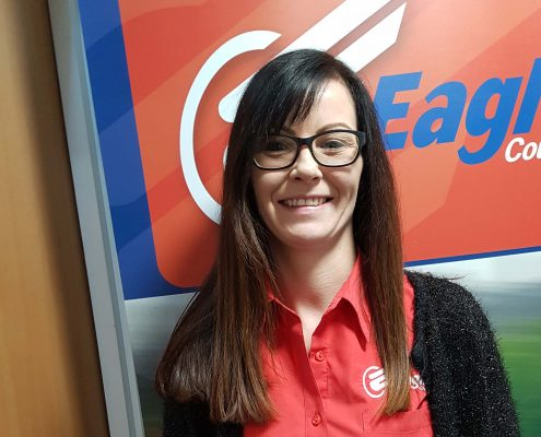 Louise employee of Courier Scotland company, Eagle Couriers
