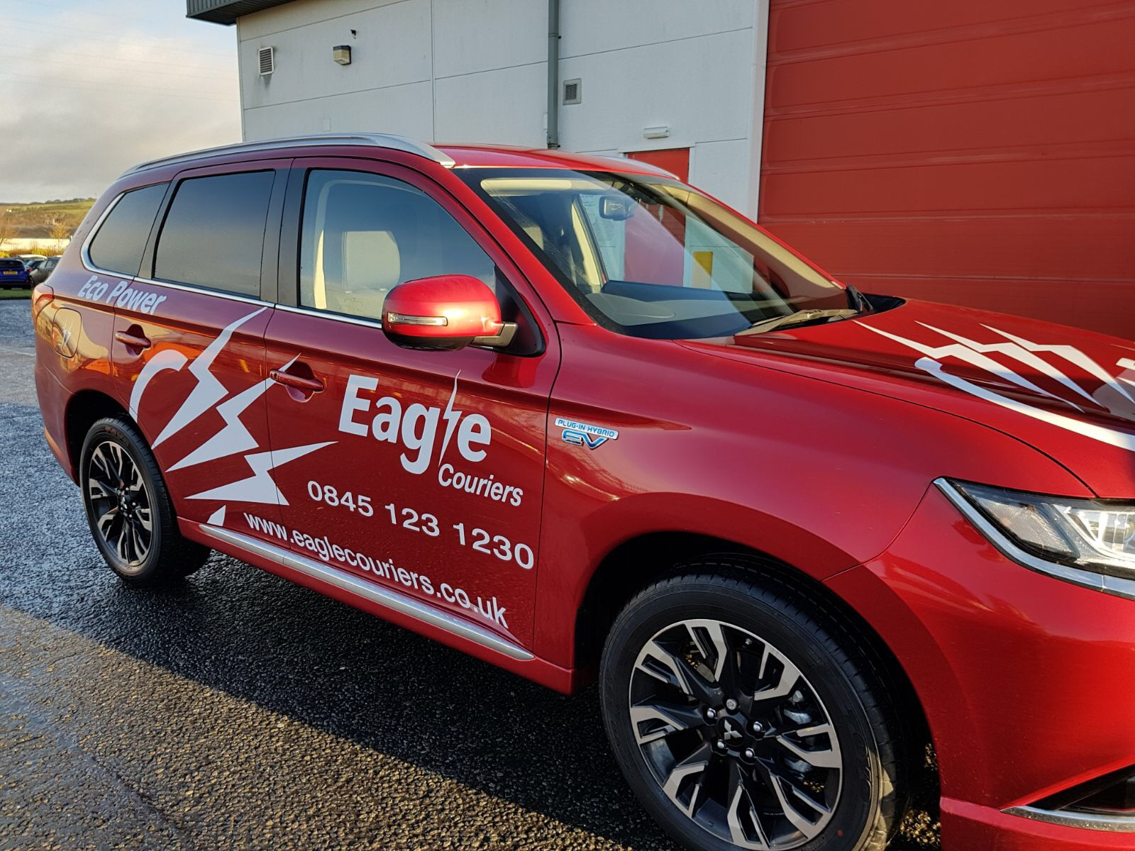 Eagle Courier's hybrid electric Mitsubishi vehicle