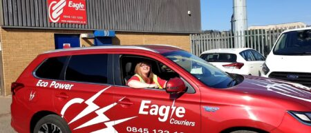 Alyson McKell, veteran driver with Eagle Couriers in Scotland