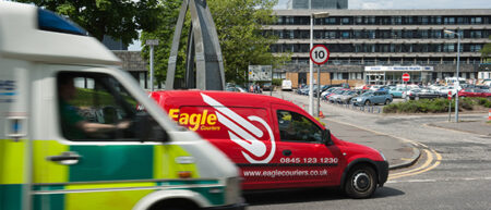 Eagle Couriers works with the Scottish Ambulance Service